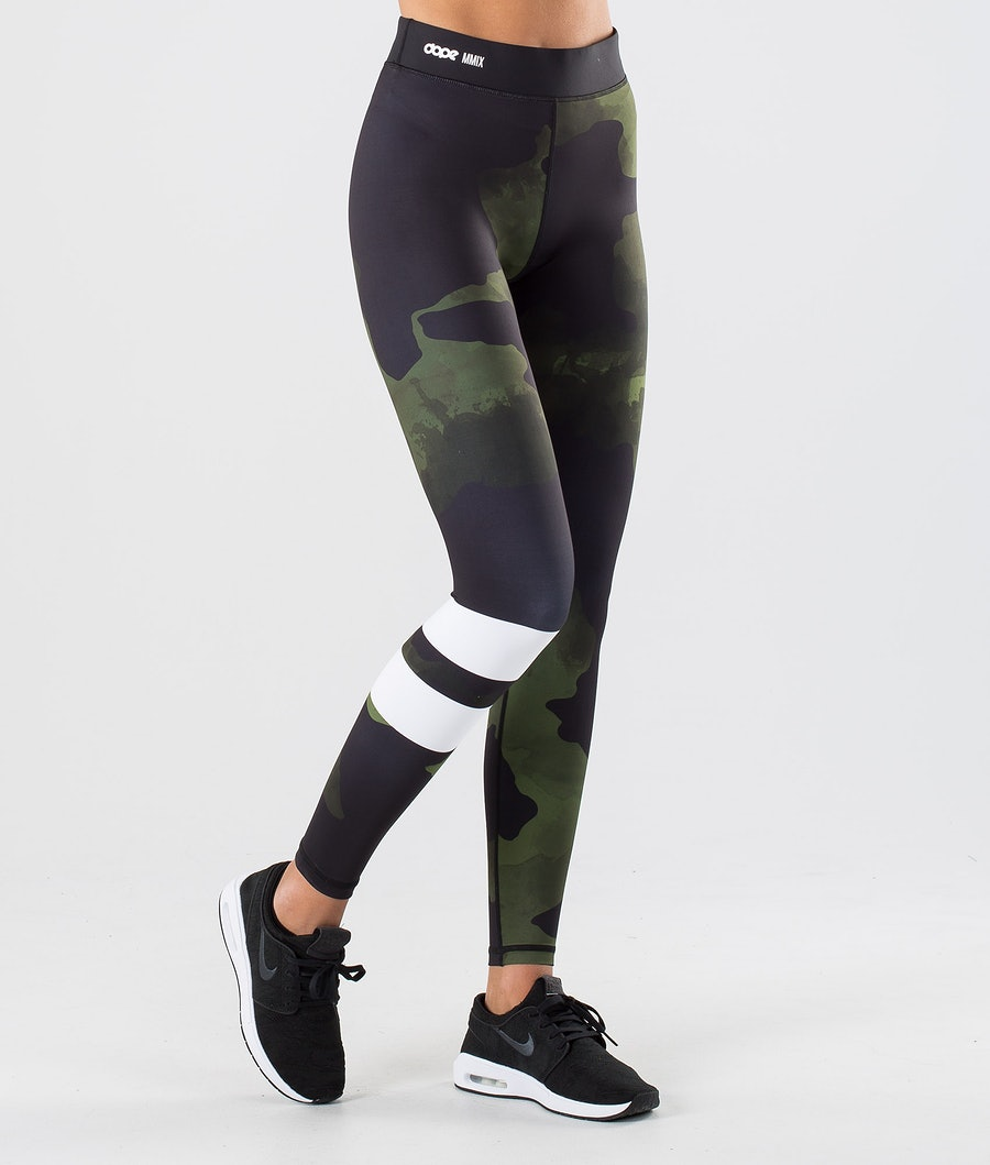 Dope Razor Leggings Dam Green Camo