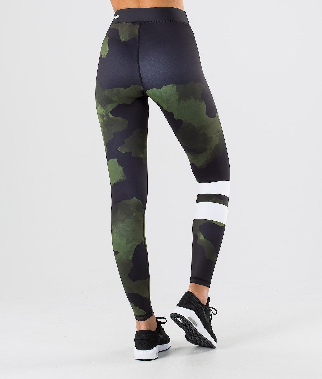 Dope Razor Leggings Green Camo