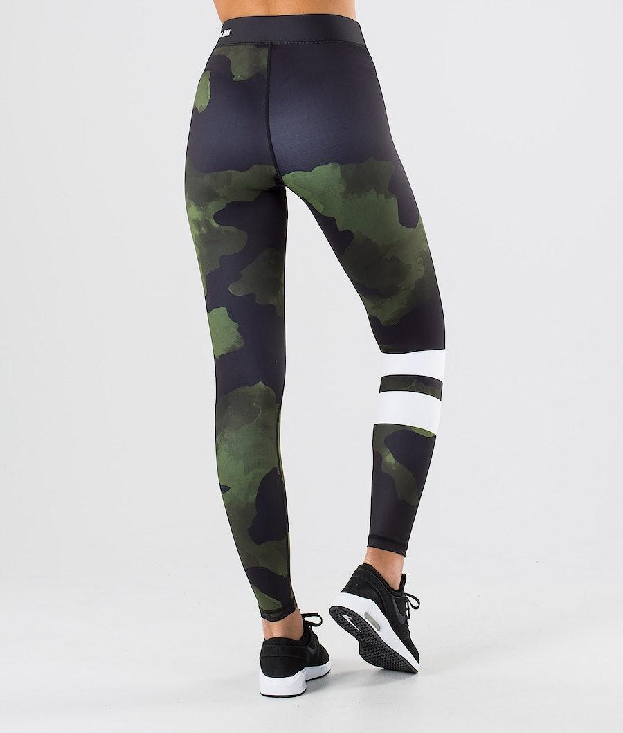 Dope Razor Leggings Dame Green Camo