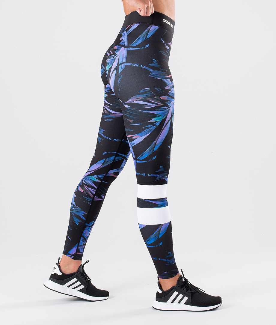 Dope Razor Leggings Purple Foliage