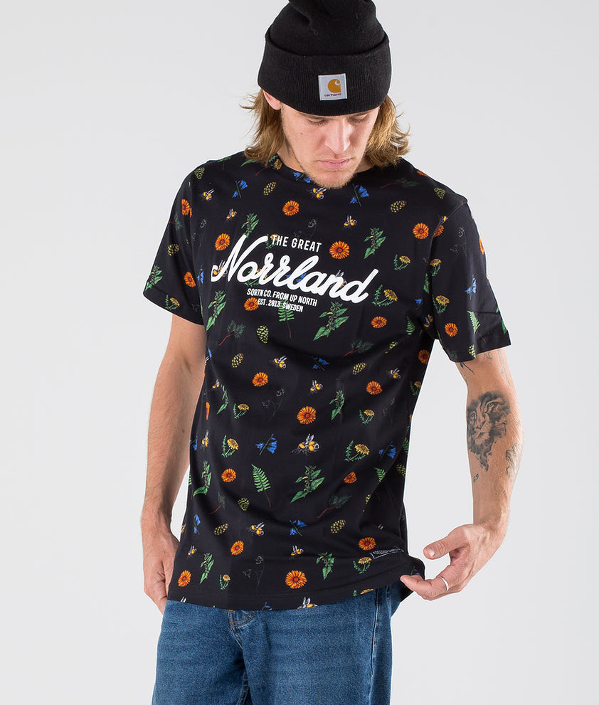 SQRTN Great Norrland T-shirt Summer Black