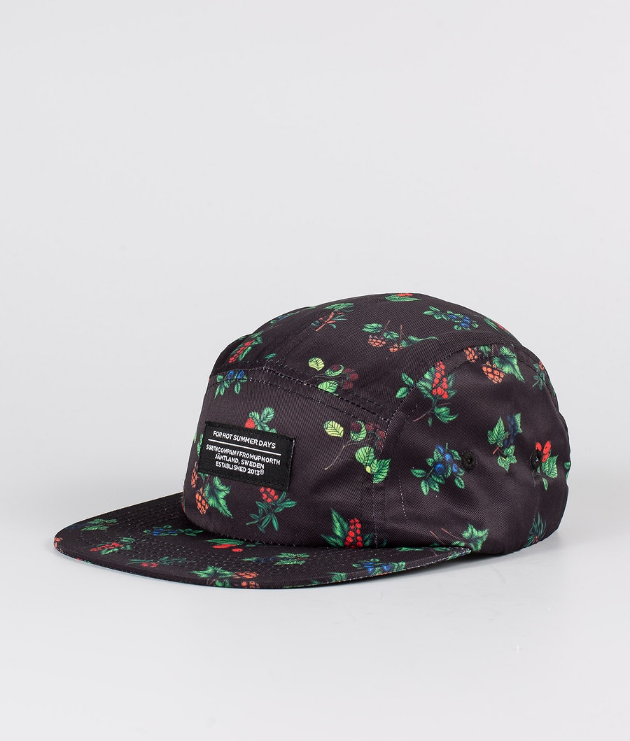 SQRTN 5-panel Caps Berry Black