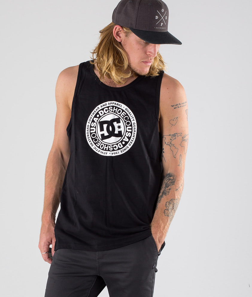 DC Circle Star Singlet Black