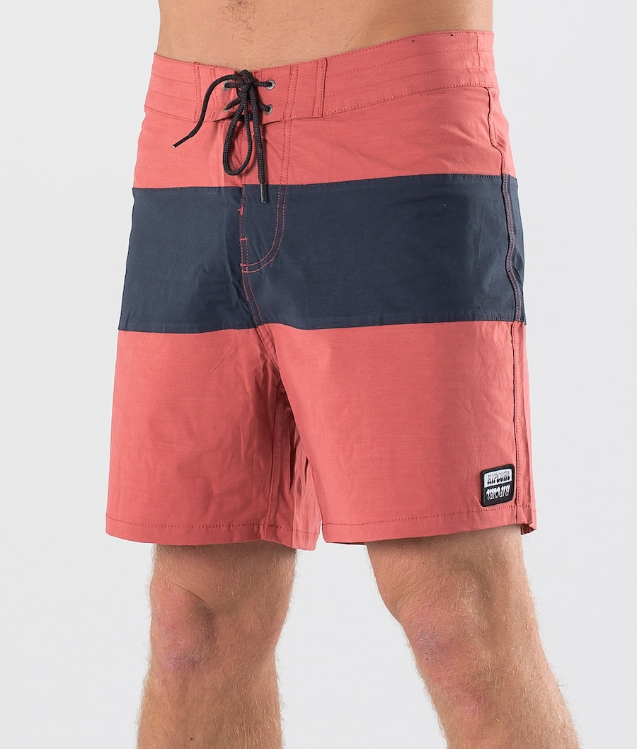 Rip Curl Retro Paneled 17'' Swimwear Brick