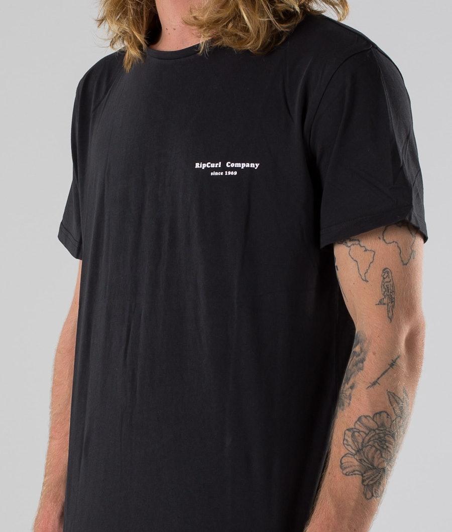 Rip Curl Hazed & Tubed T-shirt Black