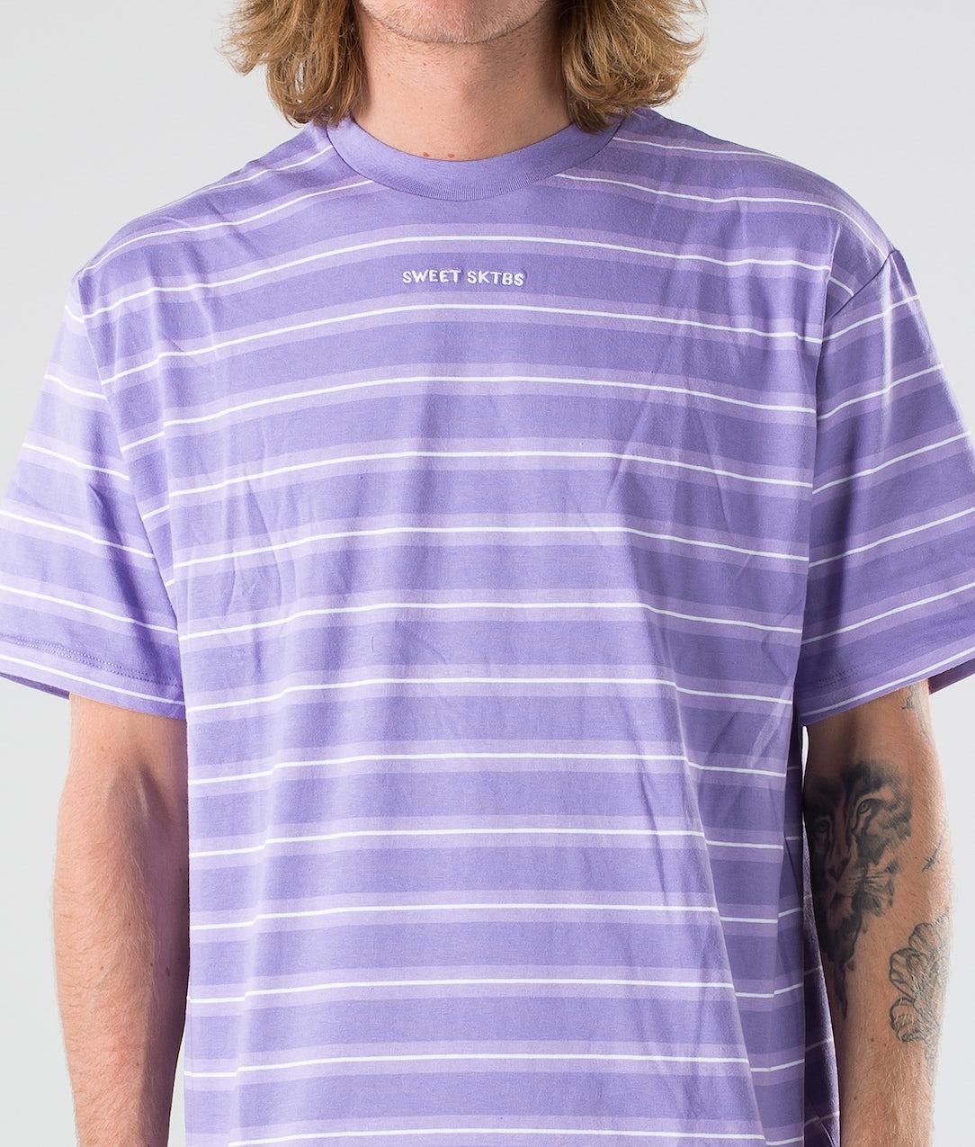 Sweet SKTBS 90S Loose T-shirt Light Purple/Purple Blue/White