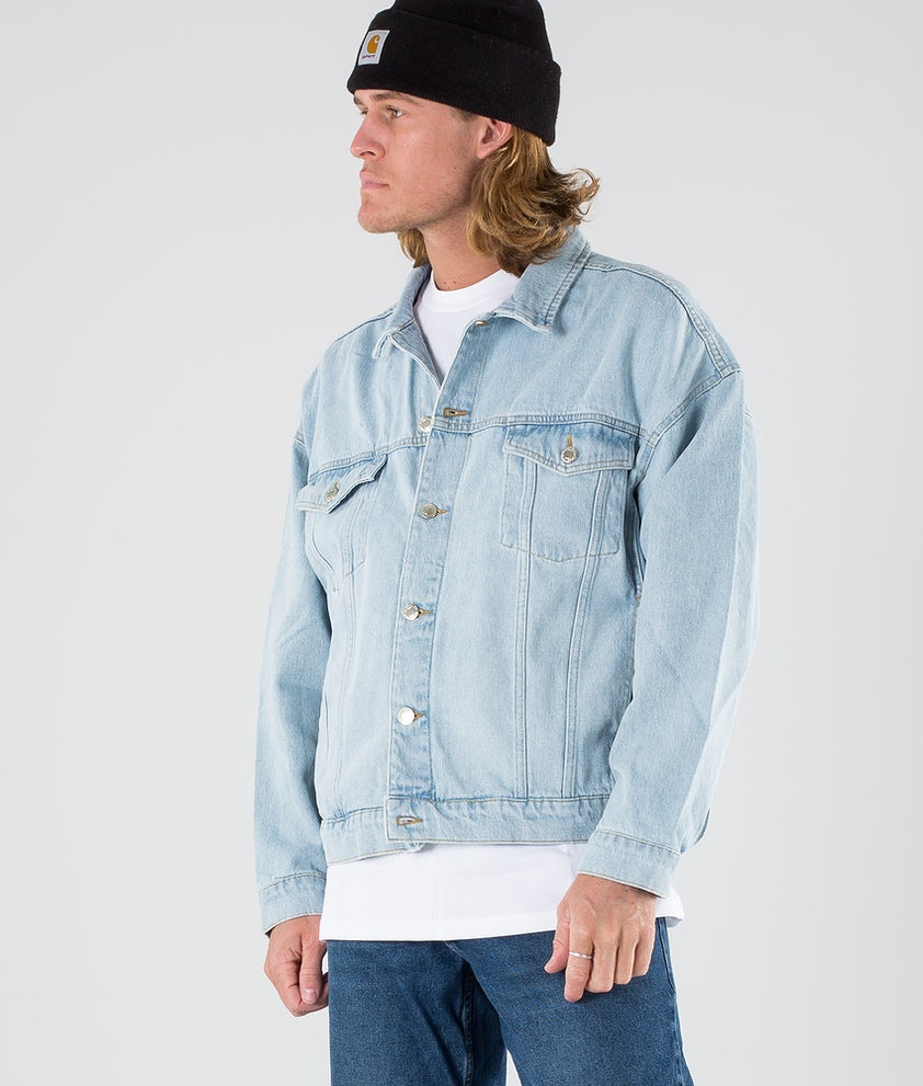 Sweet SKTBS Loose Denim Jakke Faded Blue