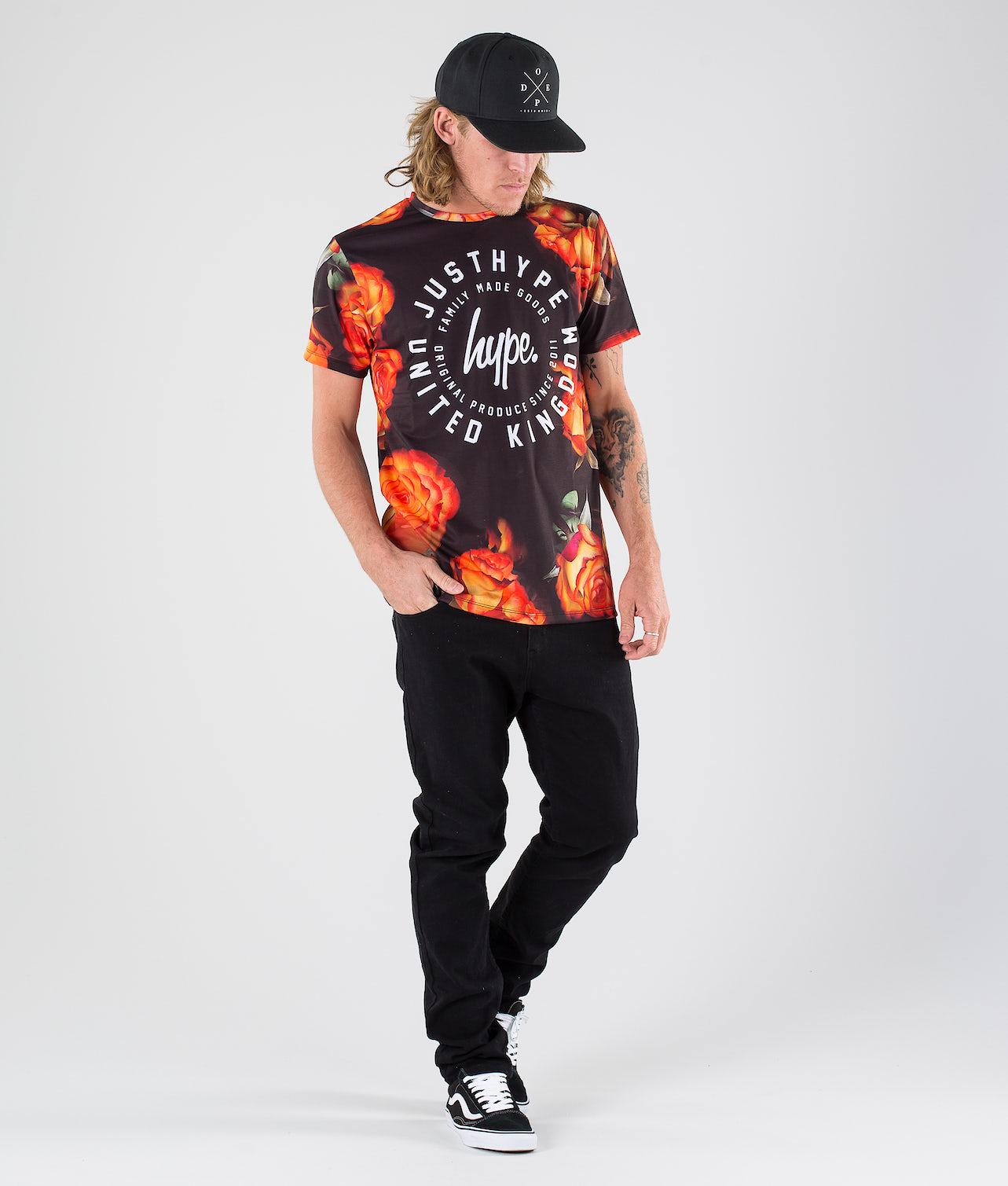 Hype Script Circle Rose Aop T-shirt Multi