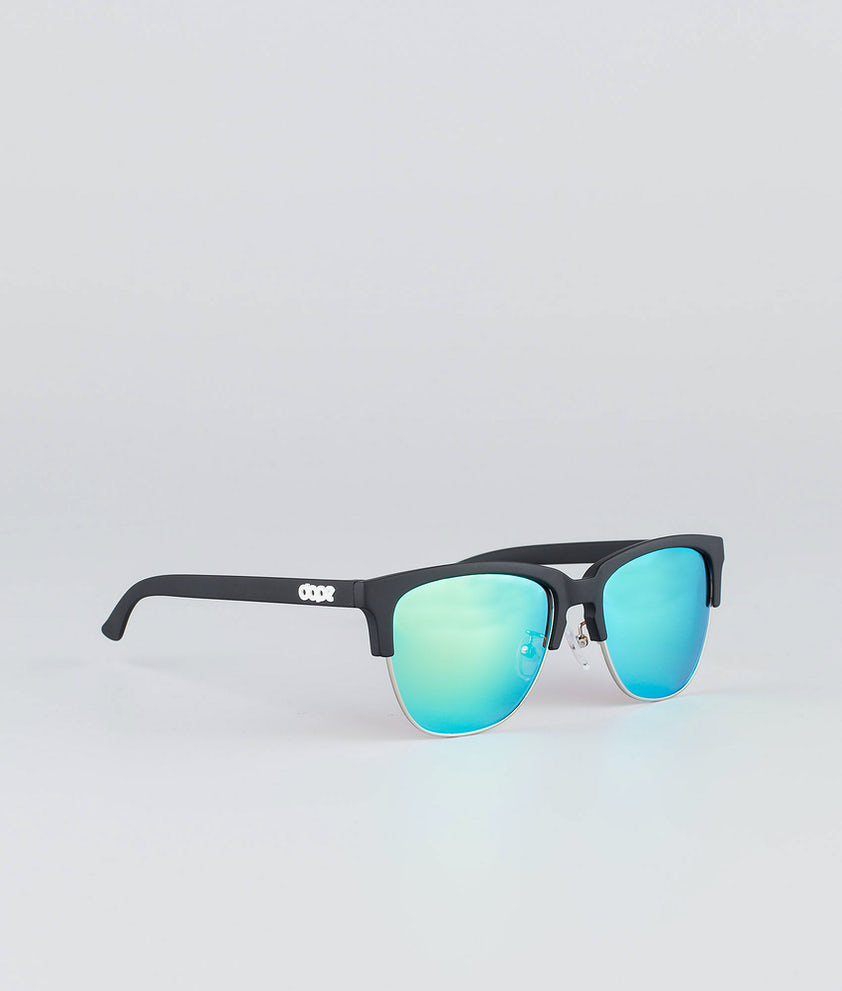 Dope Vacay Sunglasses Matte Black w/Green mirror
