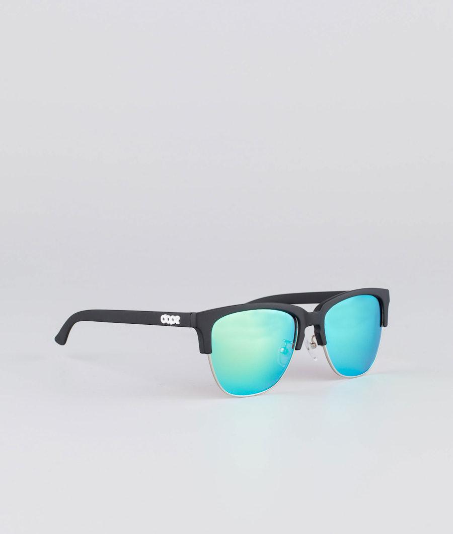 Dope Vacay Sunglasses Matte Black w/Green mirror