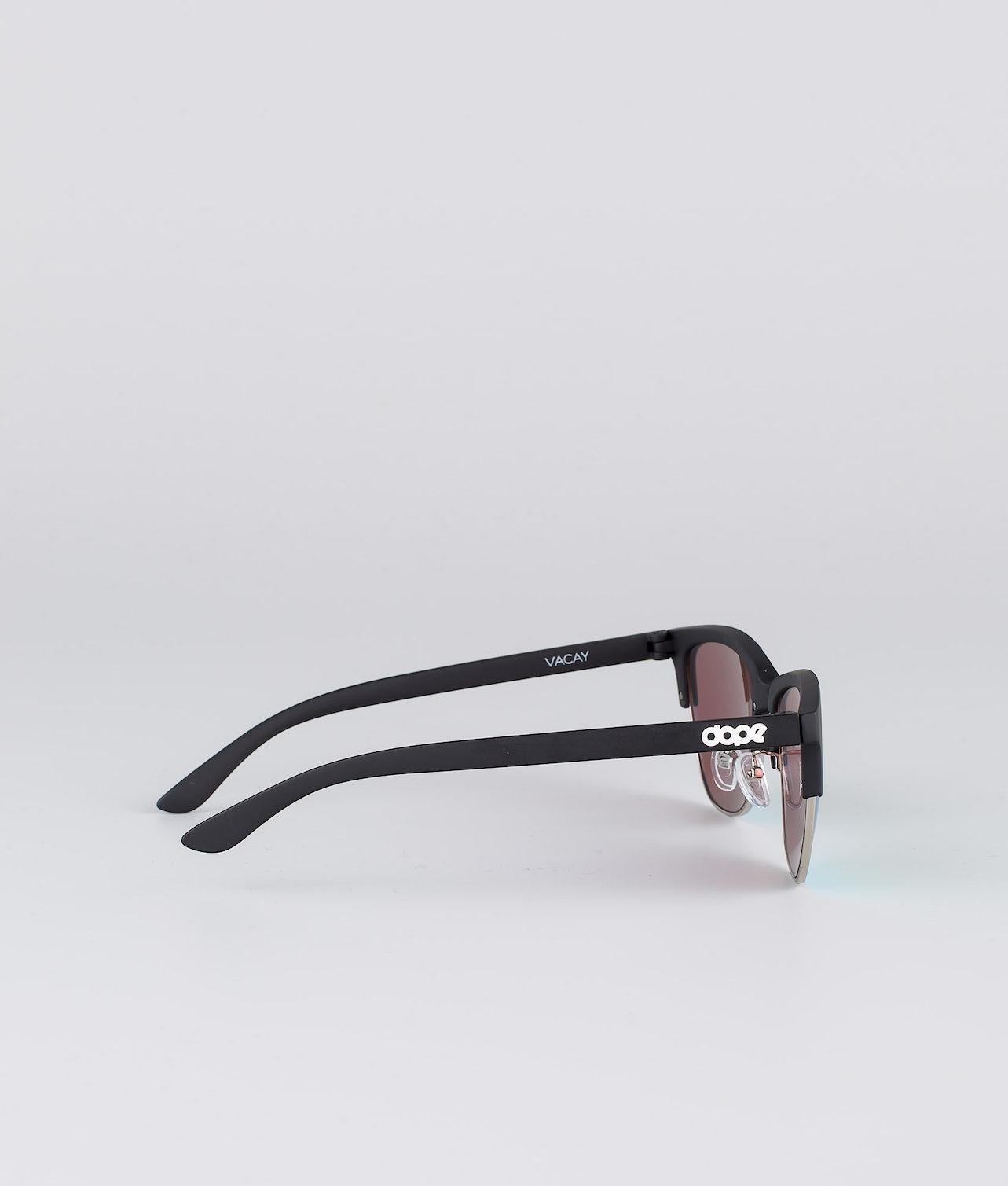Dope Vacay Solbriller Matte Black w/Green mirror