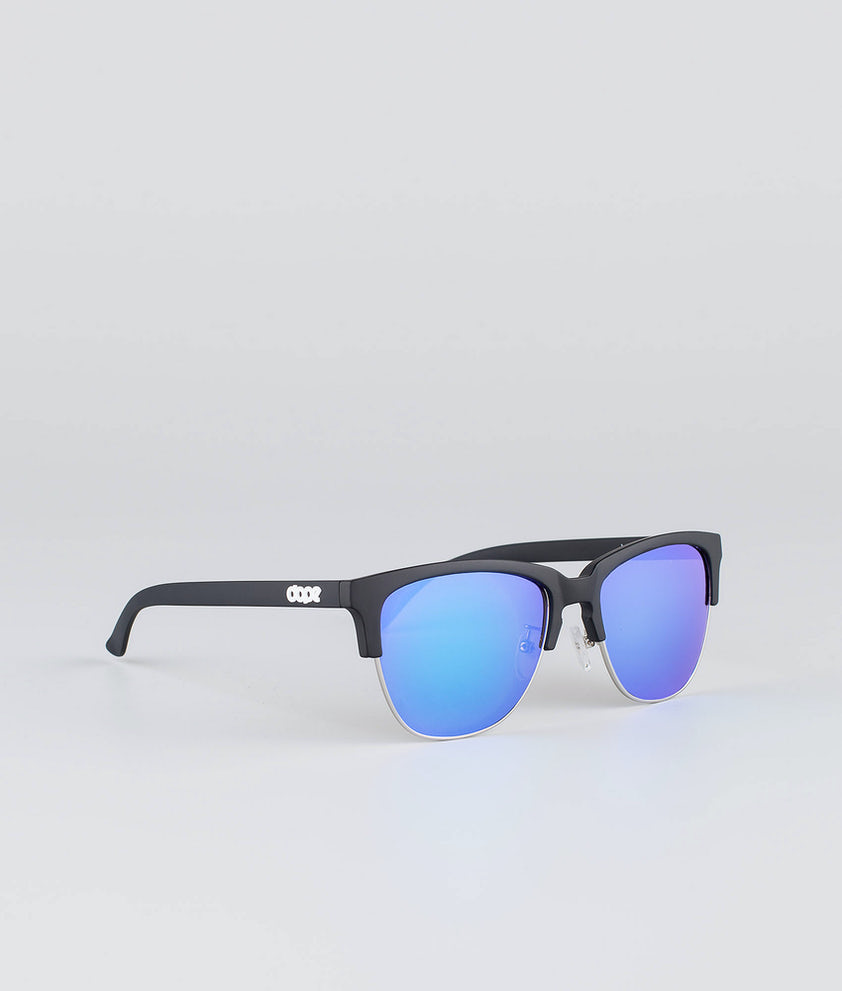 Dope Vacay Sunglasses Matte Black w/Purple mirror