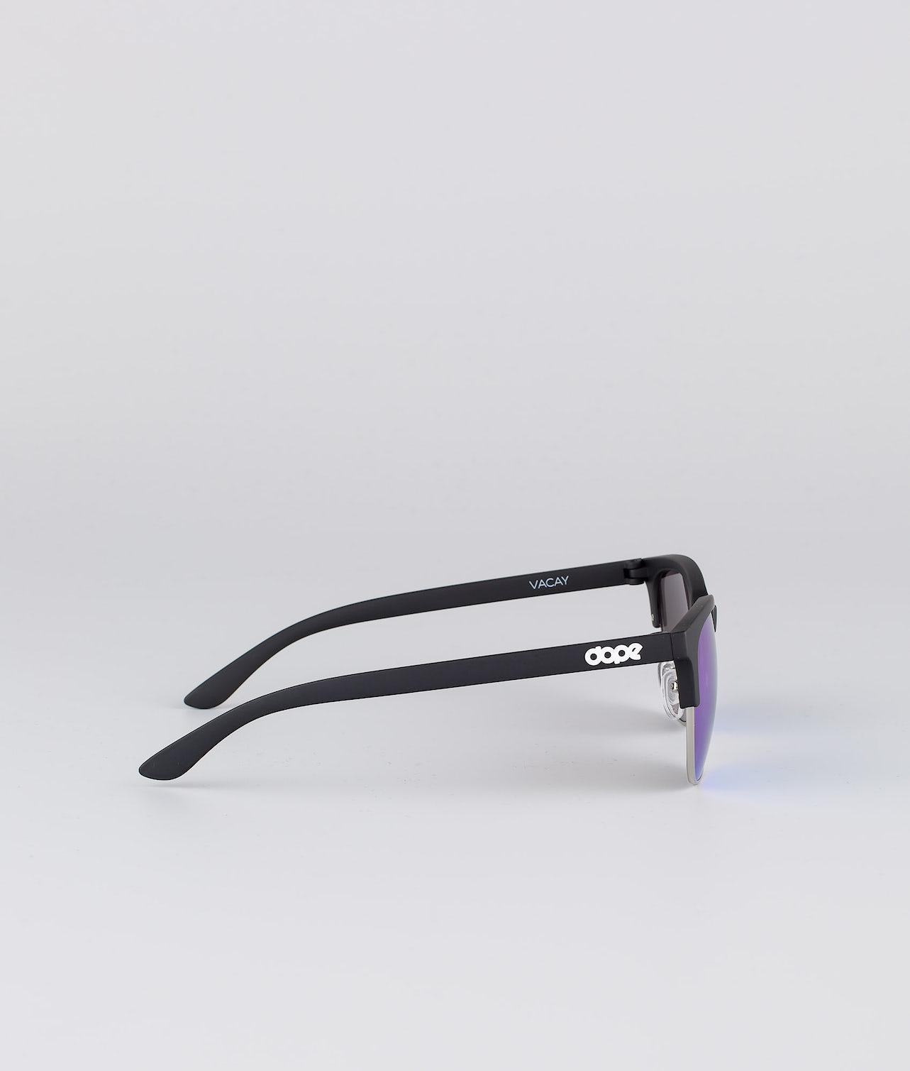 Dope Vacay Solbriller Matte Black w/Purple mirror