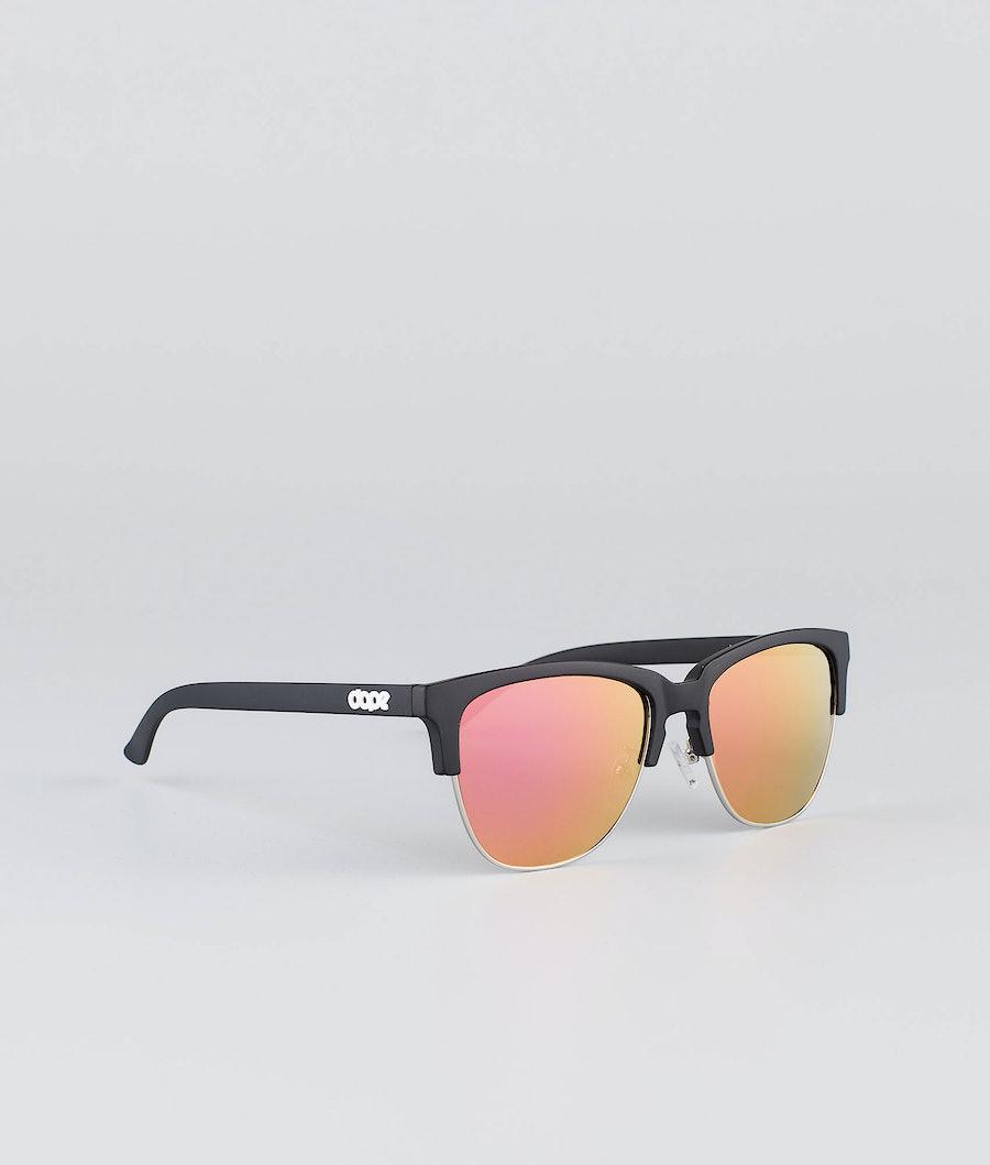 Dope Vacay Sunglasses Matte Black w/Pink Mirror