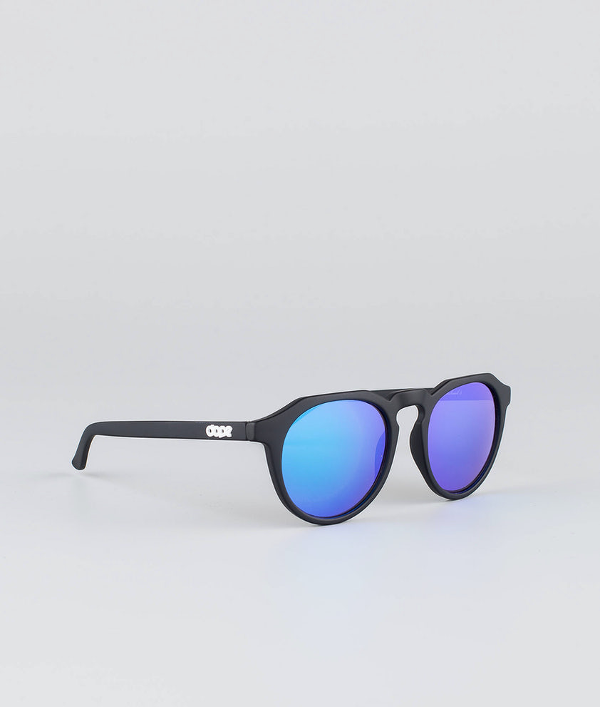 Dope Oldskool III Sunglasses Matte Black w/Purple Mirror