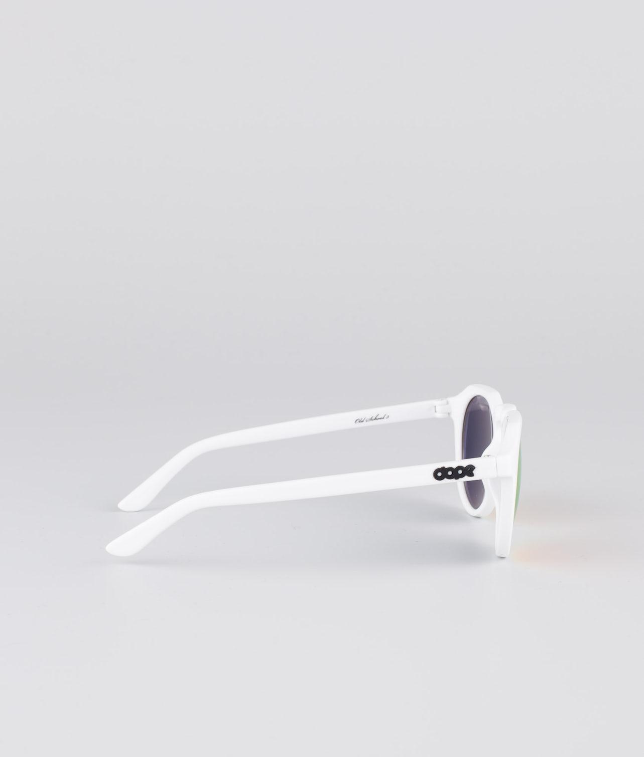 Dope Oldskool III Solbriller Glossy white w/Red Mirror