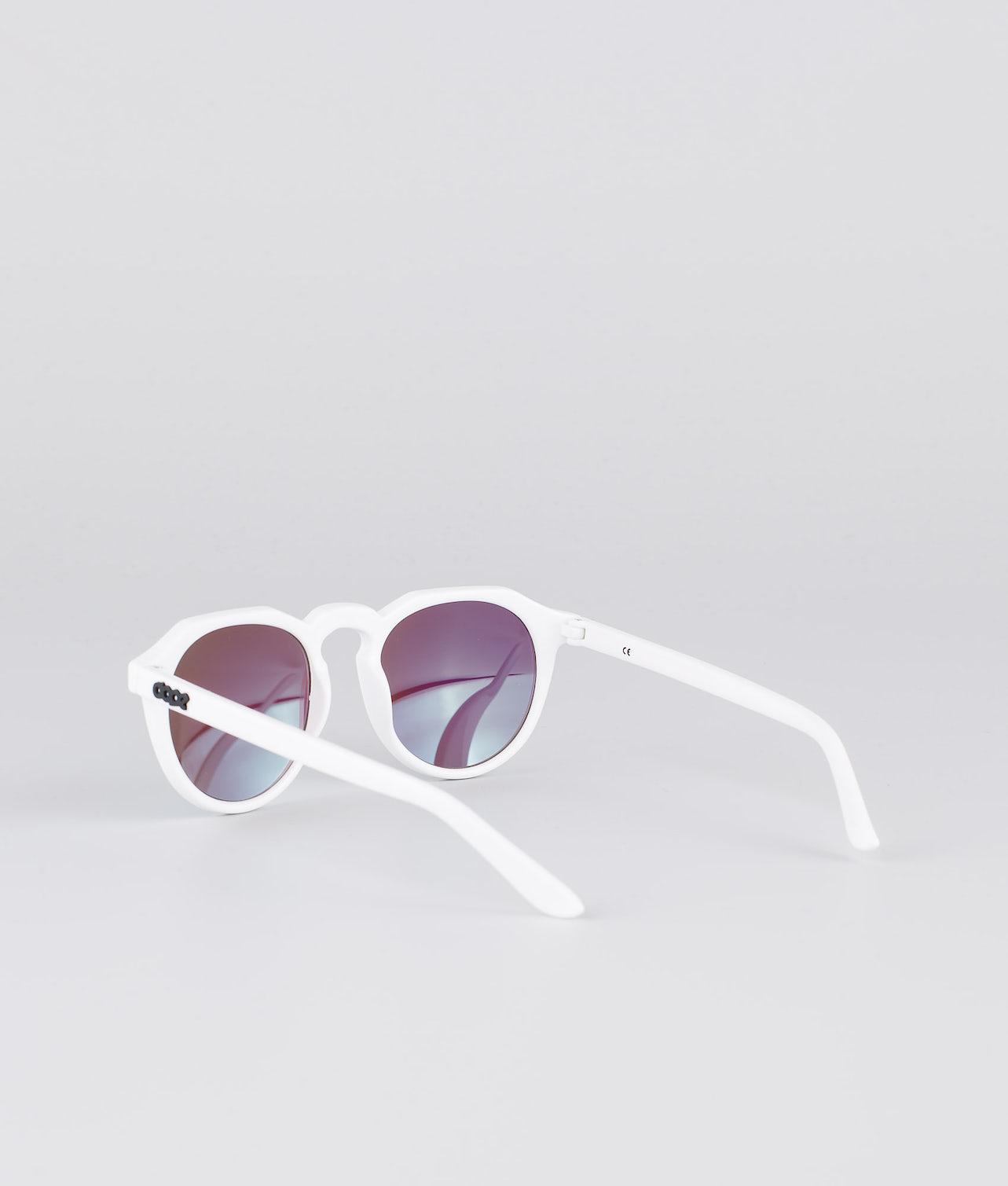 Dope Oldskool III Solbriller Glossy white w/Green Mirror