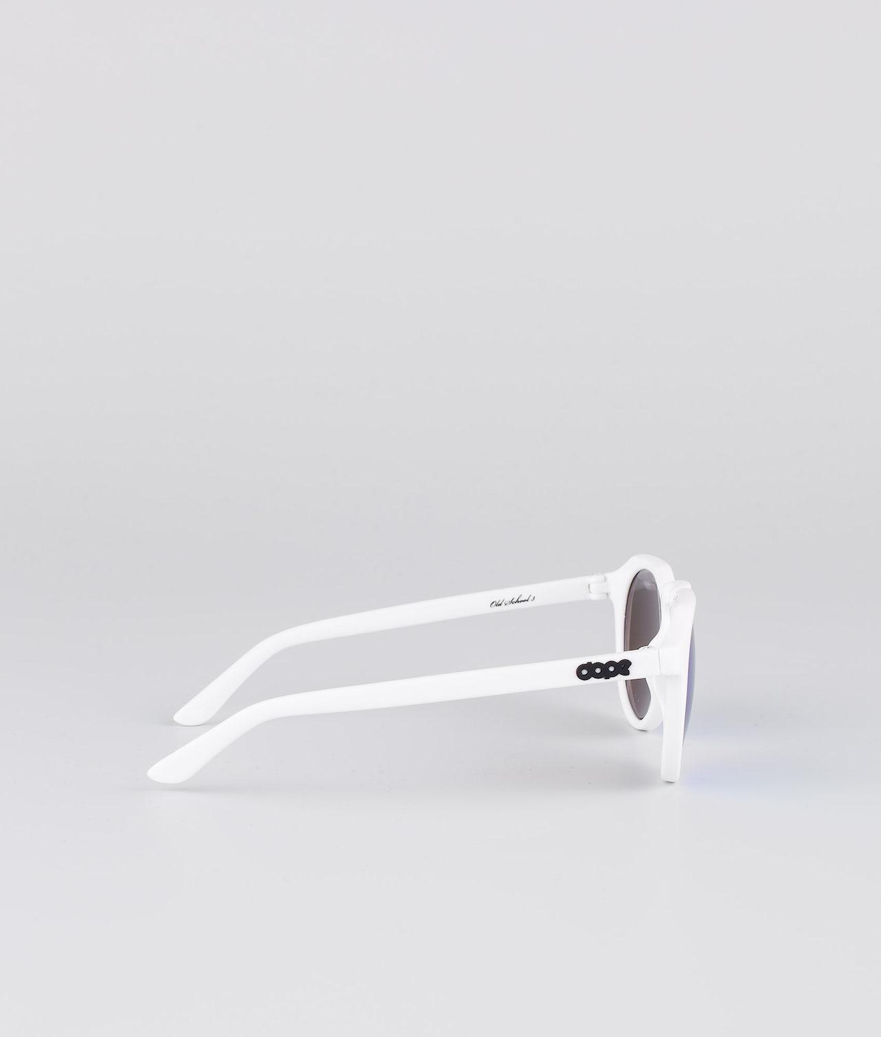 Dope Oldskool III Solbriller Glossy White w/Purple Mirror