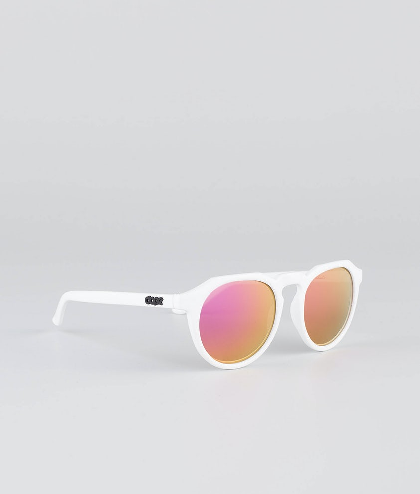 Dope Oldskool III Aurinkolasit Glossy White w/Pink Mirror