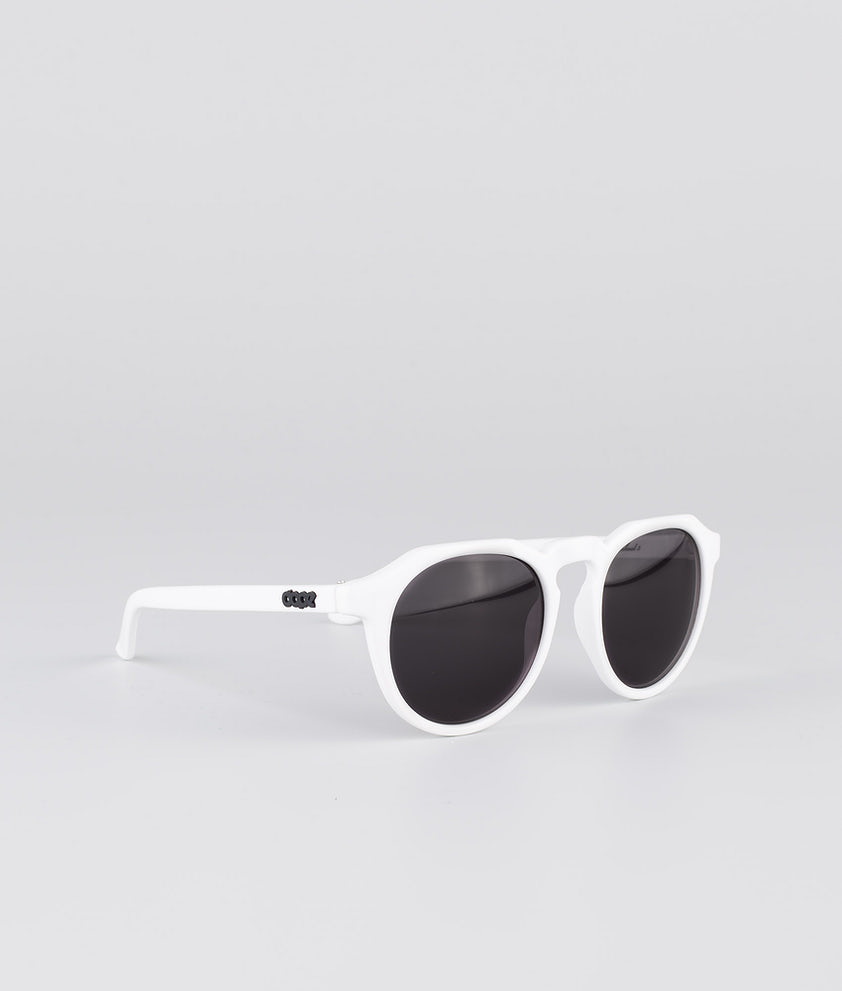 Dope Oldskool III Solbriller Glossy White w/Black