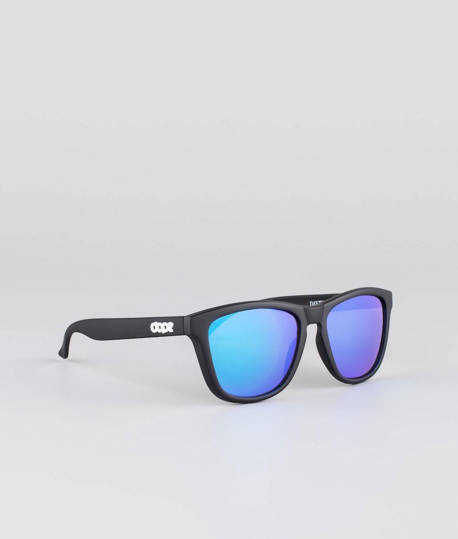 Dope Daywalker II Sunglasses Matte Black w/Purple Mirror