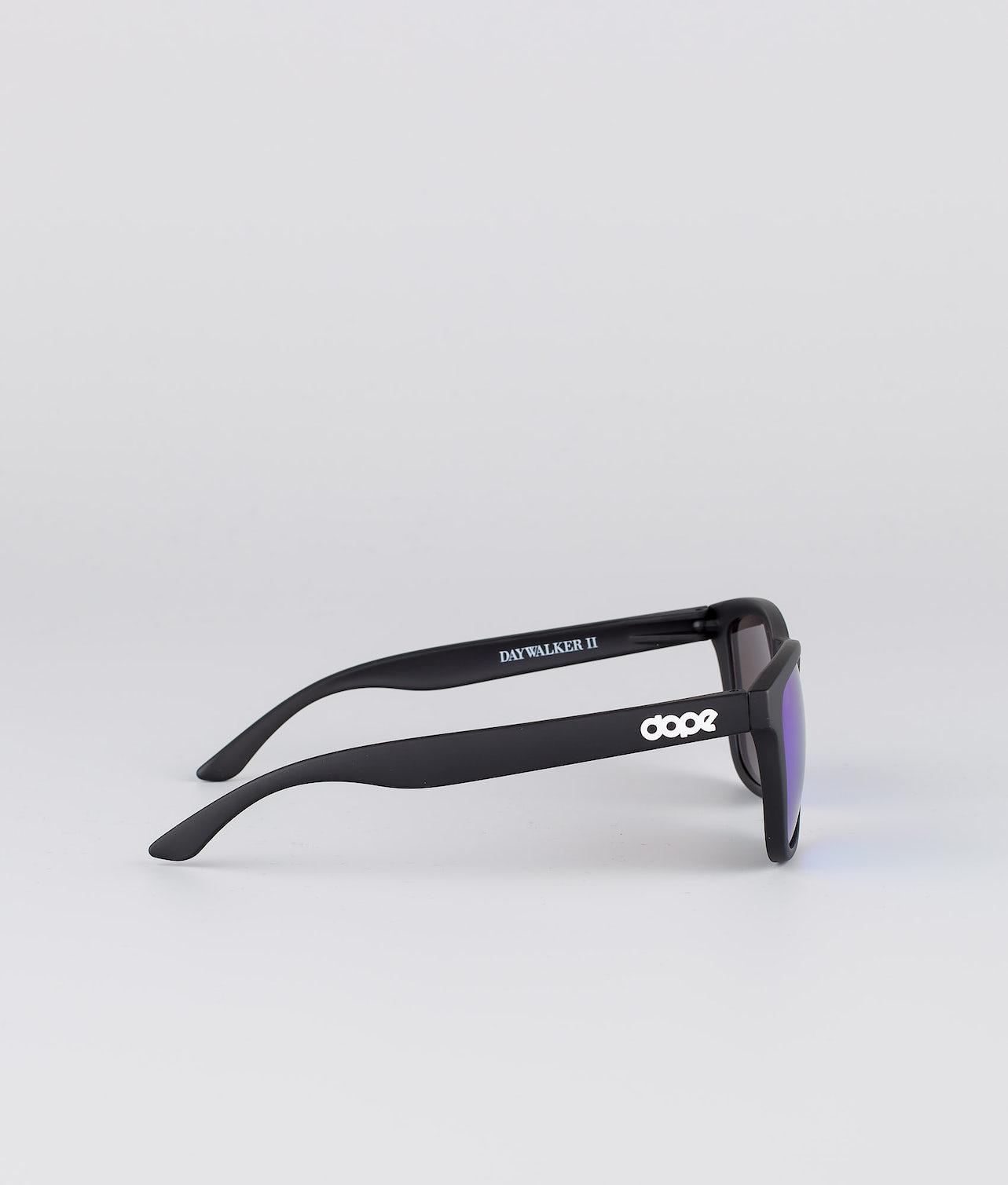 Dope Daywalker II Solbriller Matte Black w/Purple Mirror