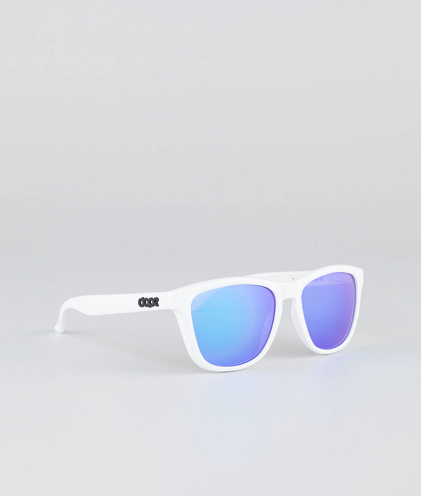 Dope Daywalker II Sunglasses Glossy White w/Purple Mirror