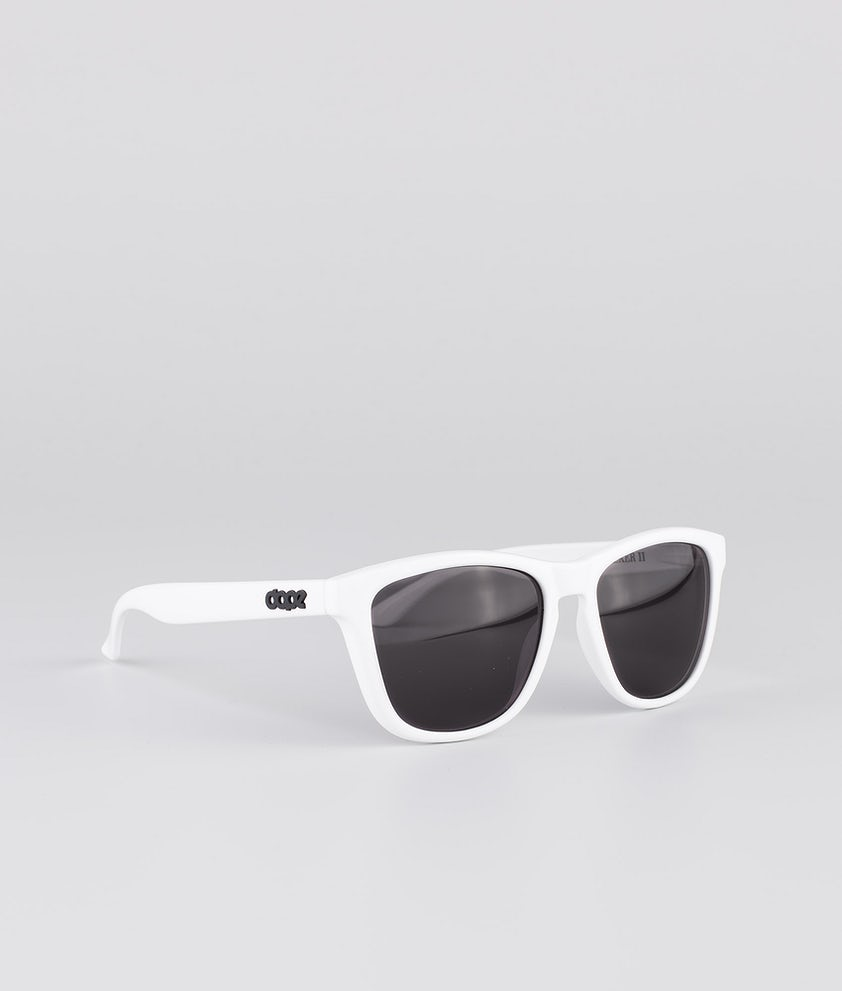 Dope Daywalker II Sunglasses Glossy White w/Black