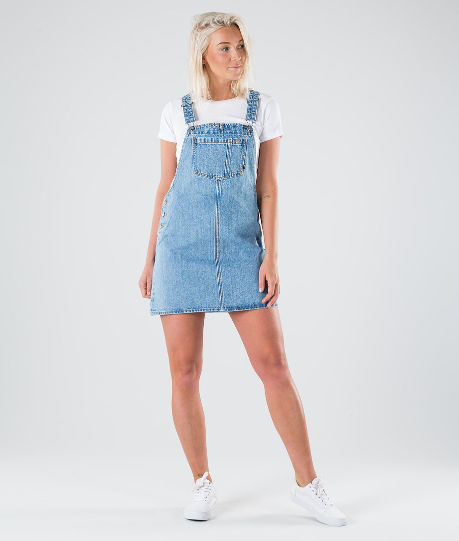 Dr Denim Eir Dungaree Dress Mekko Summer Camp Blue