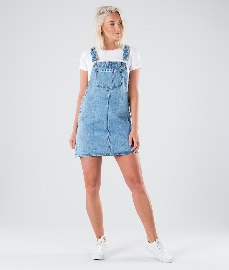Dr Denim Eir Dungaree Dress Klänning Summer Camp Blue