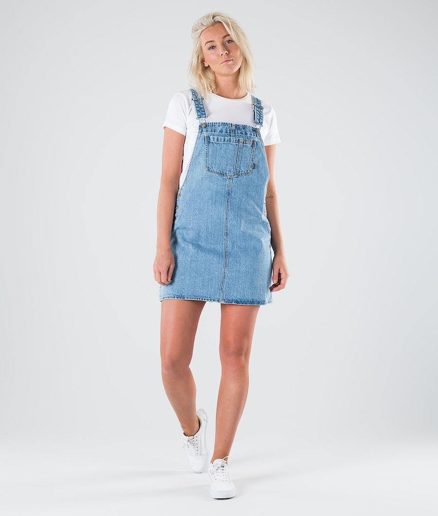 Dr Denim Eir Dungaree Dress Klänning Dam Summer Camp Blue