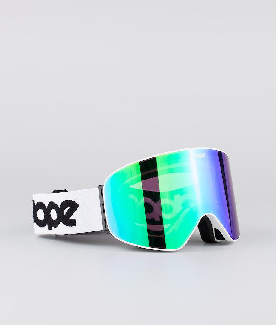Dope Flush OG Skidglasögon White W/White Green Mirror