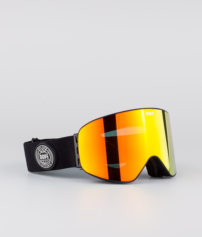 Dope Flush Glotain II Skibrille Black W/Red Mirror