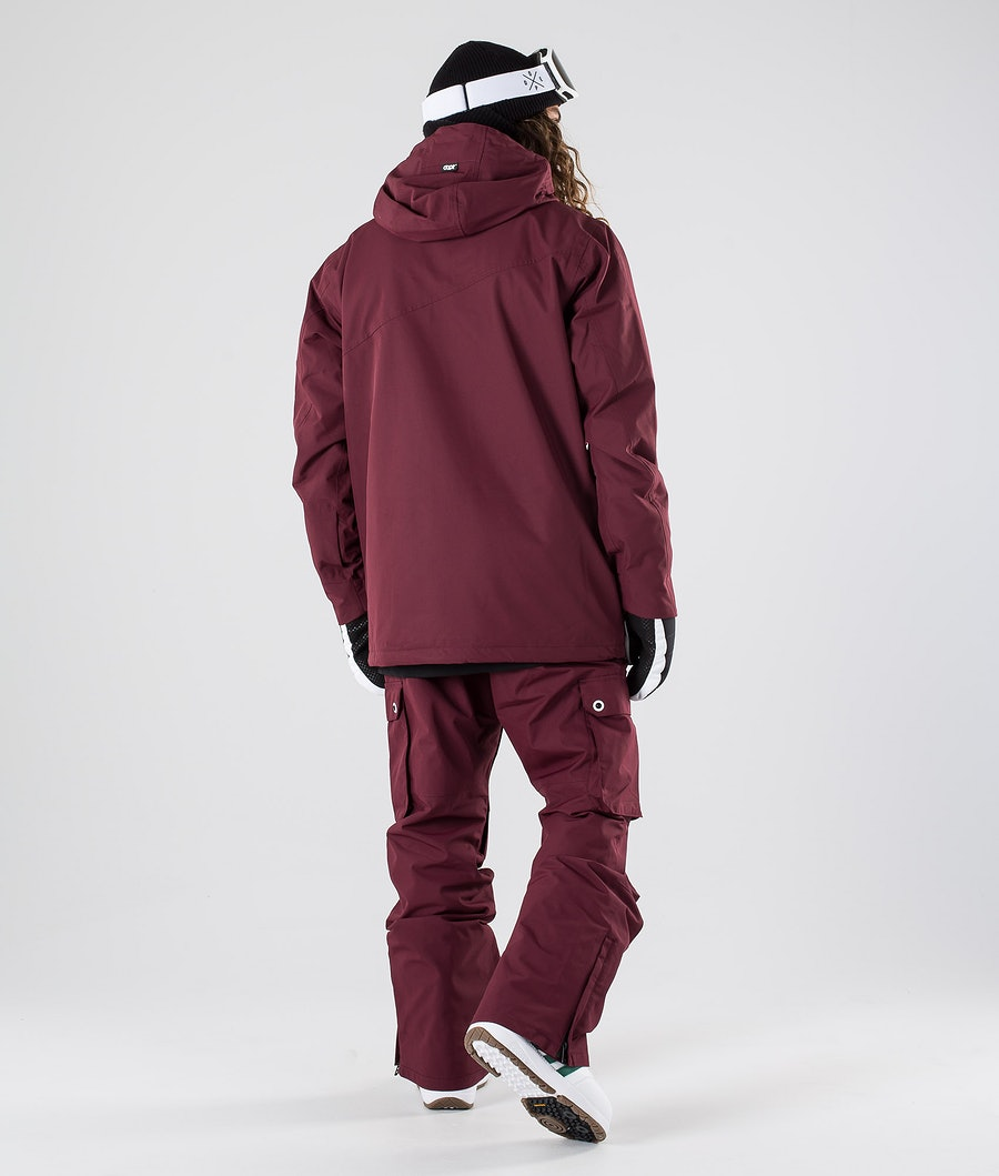 Dope Adept Snowboardjakke Burgundy