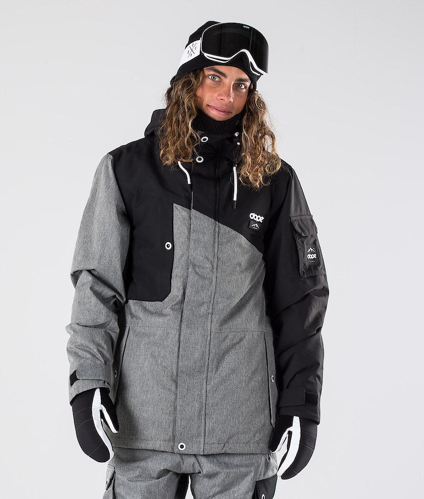 Dope Adept Snowboardjakke Black/Grey Melange