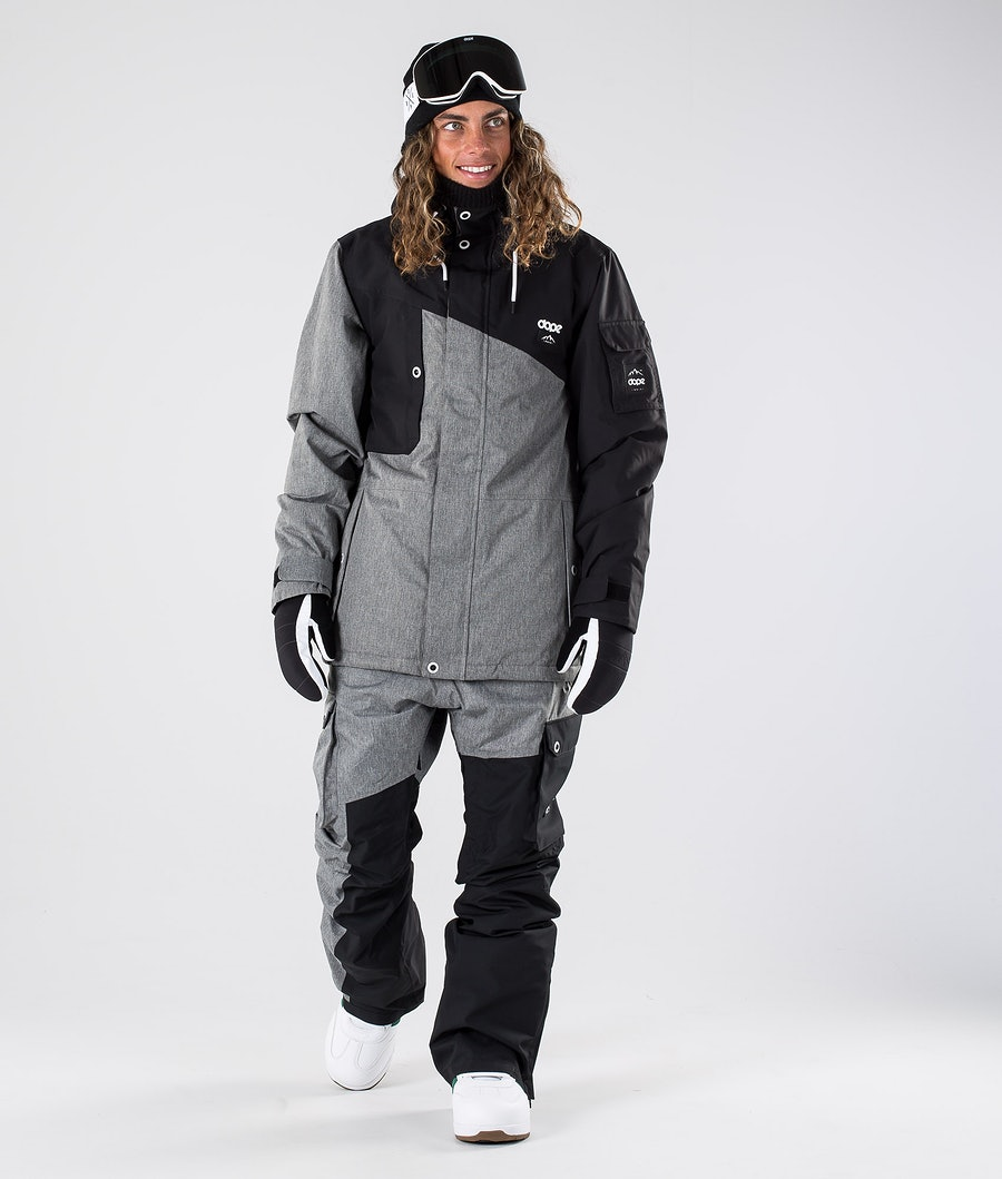Dope Adept Snowboardjacke Black/Grey Melange