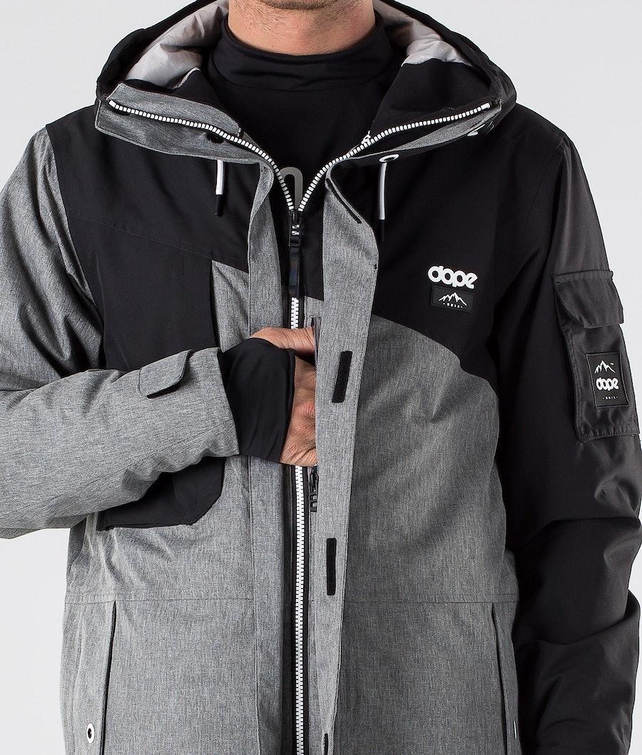 Dope Adept Giacca da Snowboard Black/Grey Melange