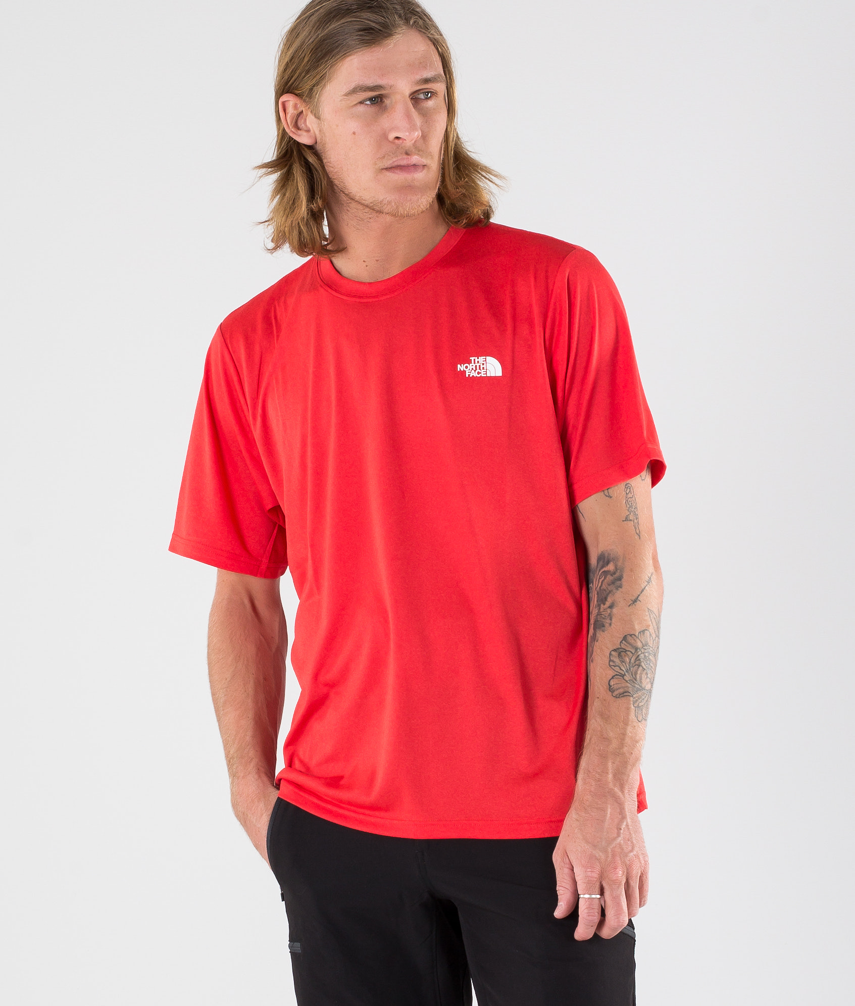 f068bc82e The North Face Reaxion Amp Crew T-shirt Tnf Red Heather