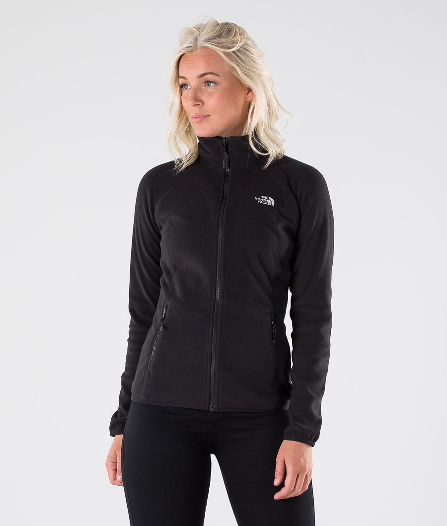 The North Face 100 Glacier Full Zip Jakke Tnf Black