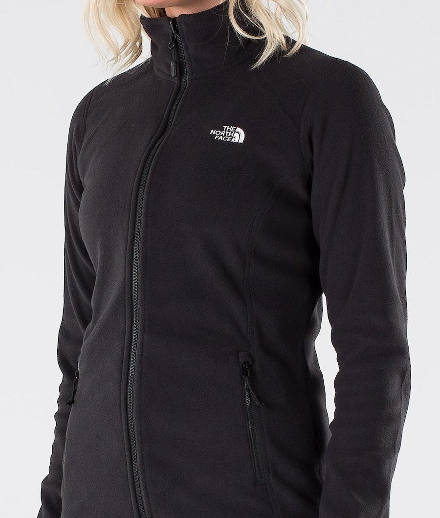 The North Face 100 Glacier Full Zip Fleecepullover Damen Tnf Black