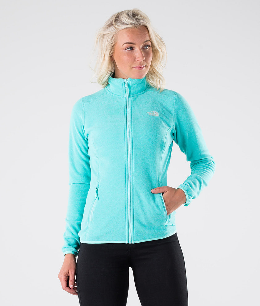 The North Face 100 Glacier Full Z Turjakke Mint Blue Stripe