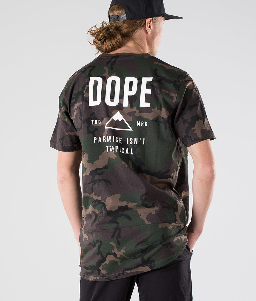 Dope Stacked T-shirt Woodcamo