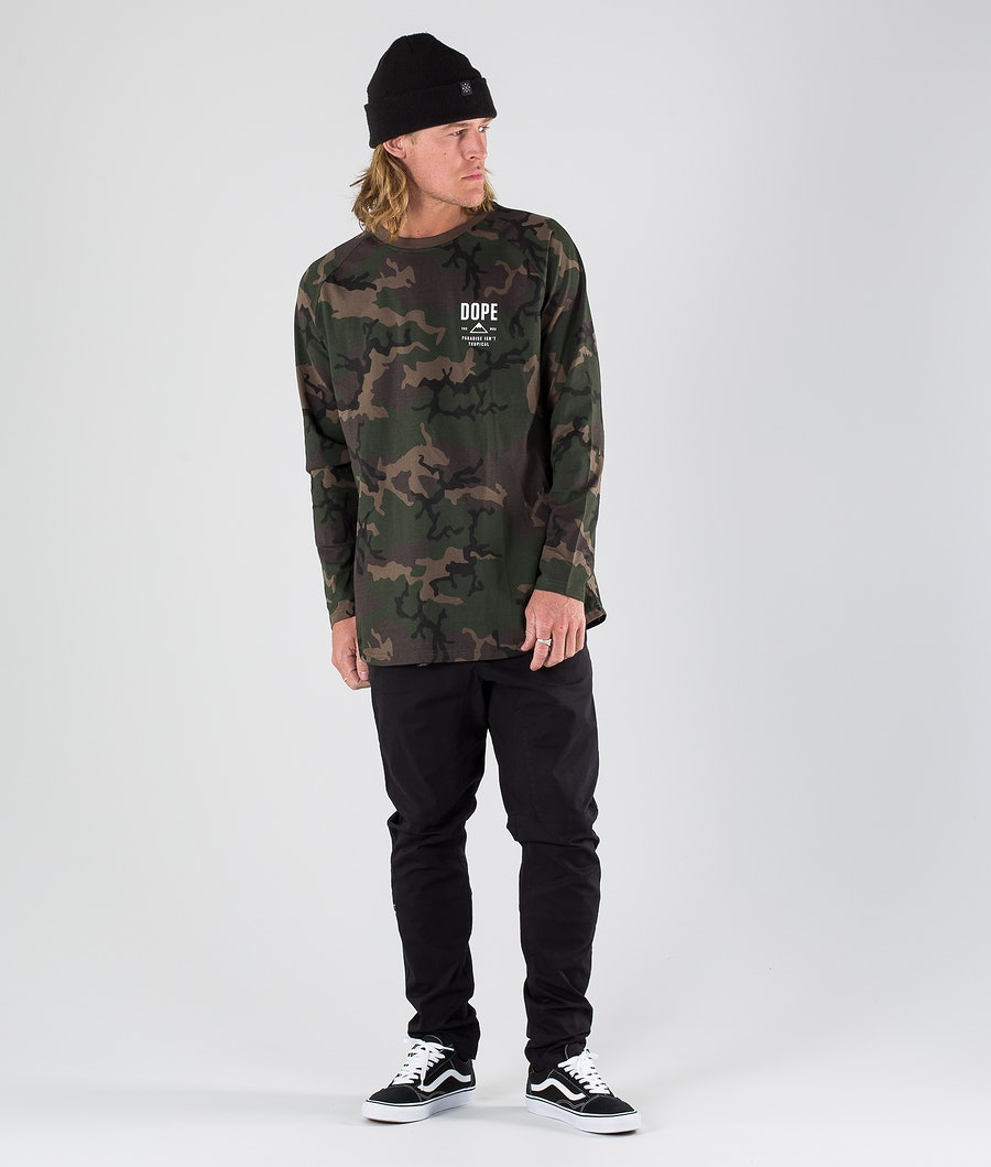 Dope Stacked Longsleeve Woodcamo