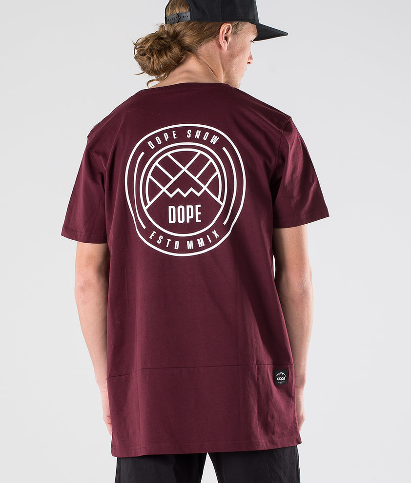 Dope Lines T-shirt Burgundy