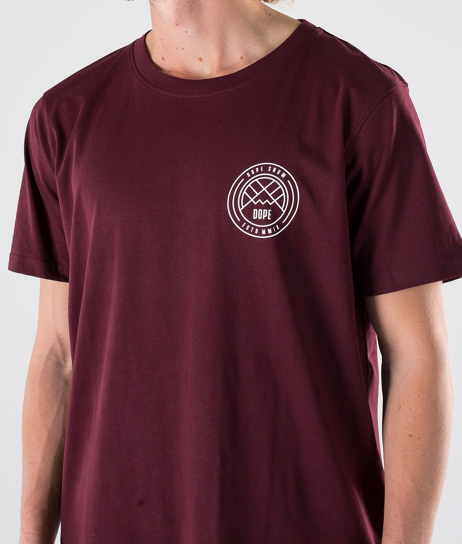 Dope Lines T-shirt Burgundy