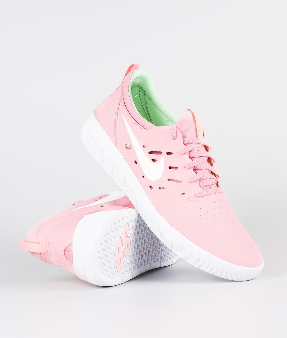 Nike SB Nyjah Free Sko Bleached Coral/White-Aphid Green