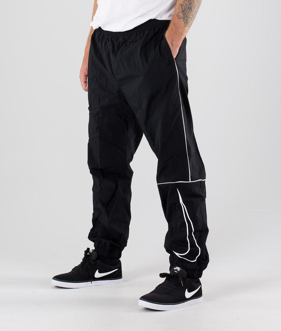 Nike SB Pant Track Swoosh Bukser Black/White/White