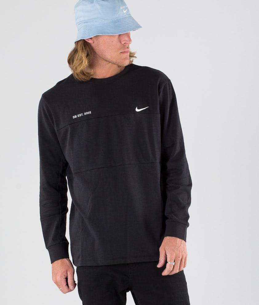 Nike SB Top Mesh Longsleeve Black/White