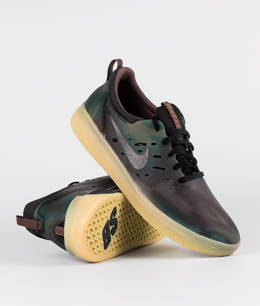 Nike SB Nyjah Free Prm Sko Multi-Color/Black-Gum Light Brown