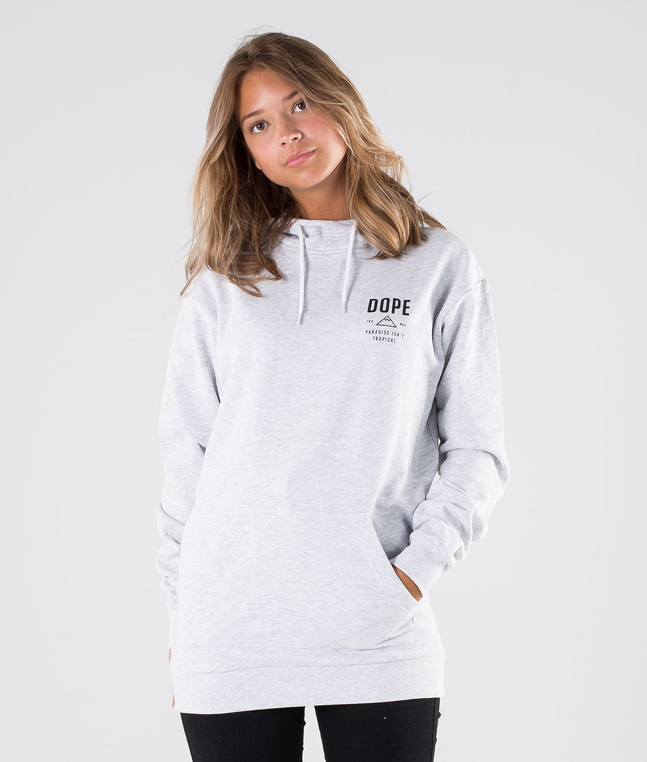 Dope Taille Stacked Hoodie Greymelange